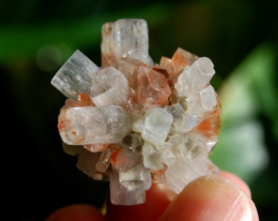 Bi Color Aragonite Crystal Cluster, Sputnik Crystal, 24 grams