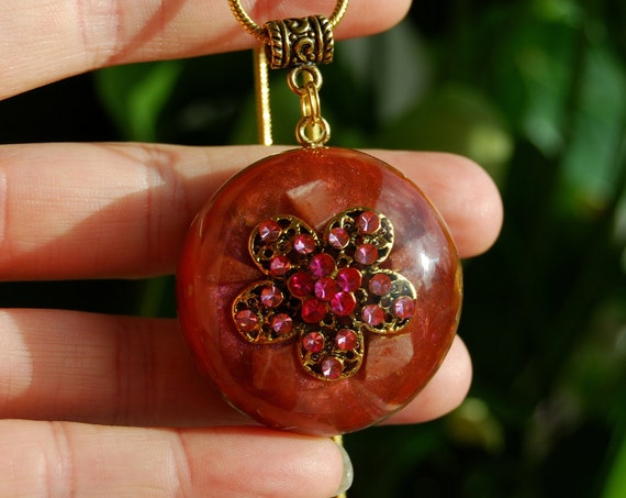 Sunstone Orgonite® Orgone Necklace Pendant Necklace