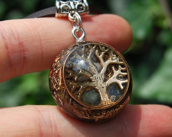 Tree of Life Orgone Orgonite® Pendant Labradorite Small