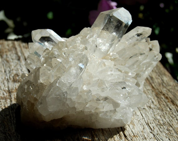 A Grade Clear Crystal Cluster from Brazil, natural terminated Crystals -  524 grams - FREE ShiPPinG !