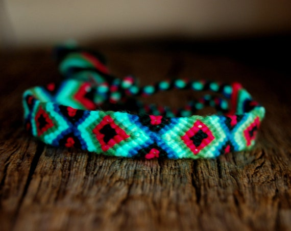 Woven Friendship Bracelet, Blacklight UV Active