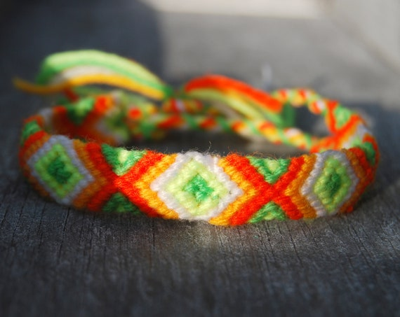 Unisex Friendship Bracelet Handwoven UV Blacklight Reactive
