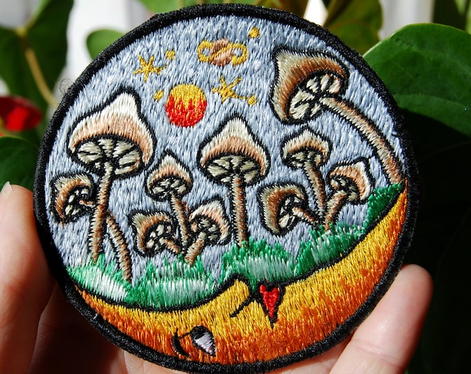 Mushrooms Patch Embroidered Sew on