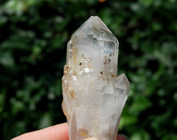 Elestial Candle Pineapple Quartz Crystal Terminated Natural, 150 grams