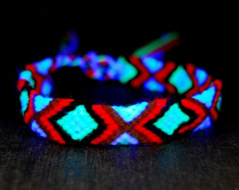 UV Blacklight Friendship Bracelets Cotton Wool
