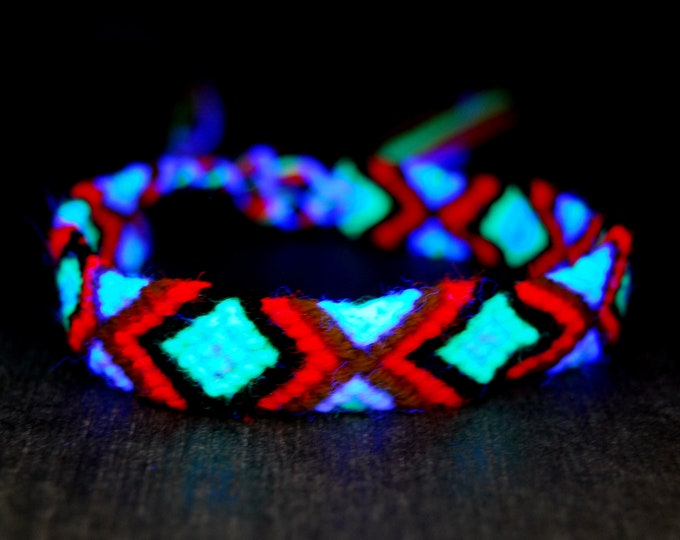 UV Blacklight Friendship Bracelets Cotton Wool