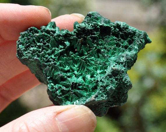 Velvet Malachite Cluster from Congo Mineral Natural, 54 gram