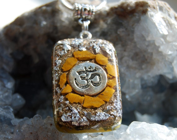 Yellow Jasper Orgonite® with 925 Silver, Unisex