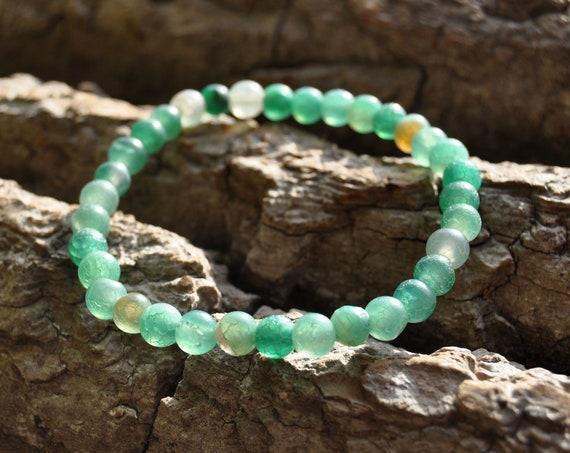 Beaded Agate Bracelet -  FREE Shipping !