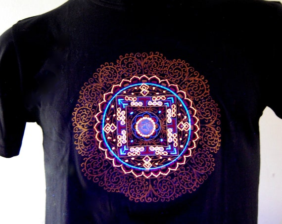 UV Mandala TShirt Blacklight UNISEX