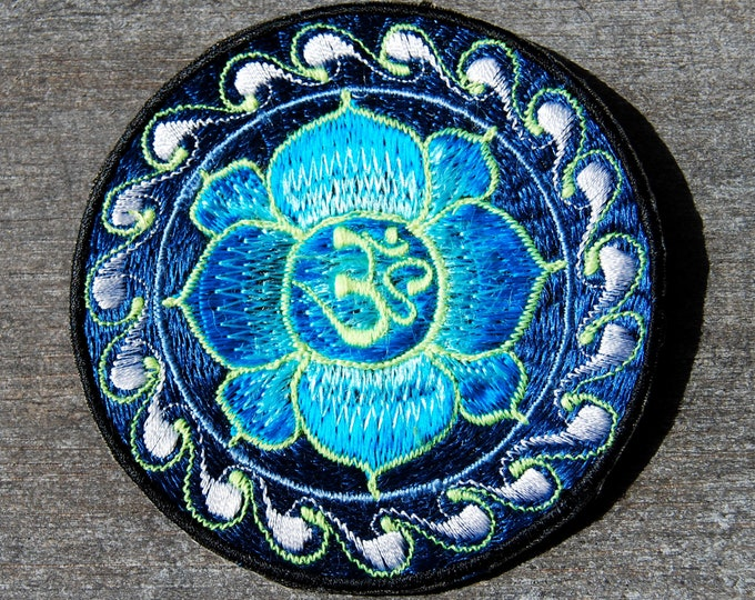AUM Patch Embroidered Sew on Applique UV Blacklight