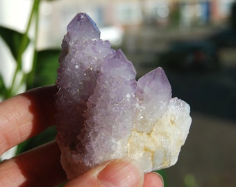 Lavender Spirit Quartz Cluster Raw Untreated