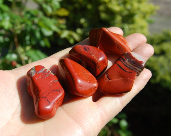 LOT of Red Jasper, Polished Stones, Whole set, 89 grams - 3.14 ounces - FREE Shipping !