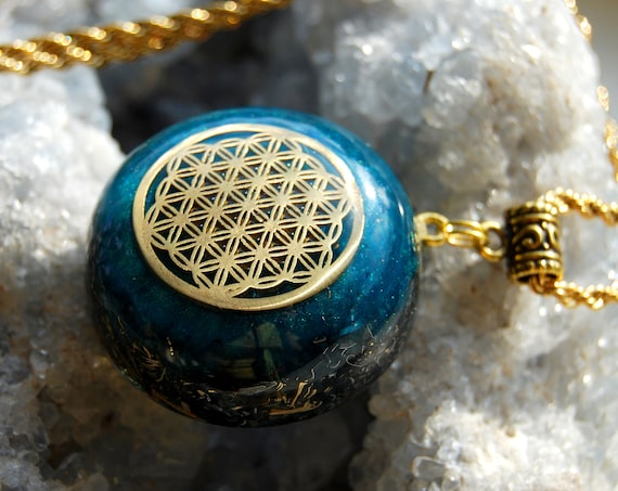 FLower of Life Orgonite® Orgone Pendant Necklace