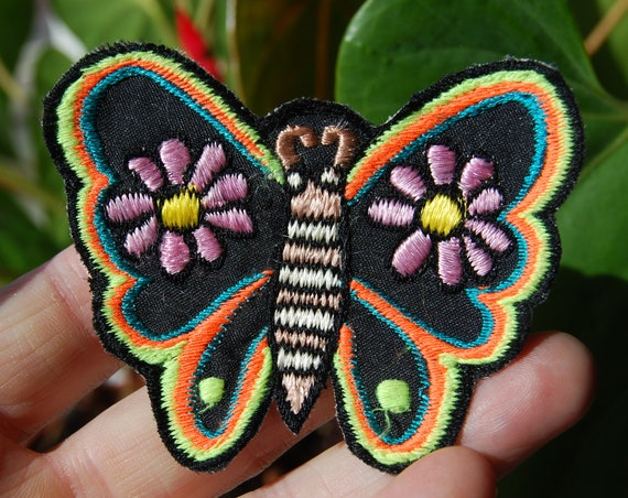 Patch Butterfly UV Embroidered Sew on Applique