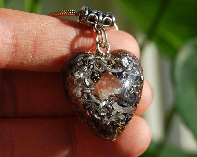 Heart Orgonite® pendant Sunstone Love Orgone Necklace