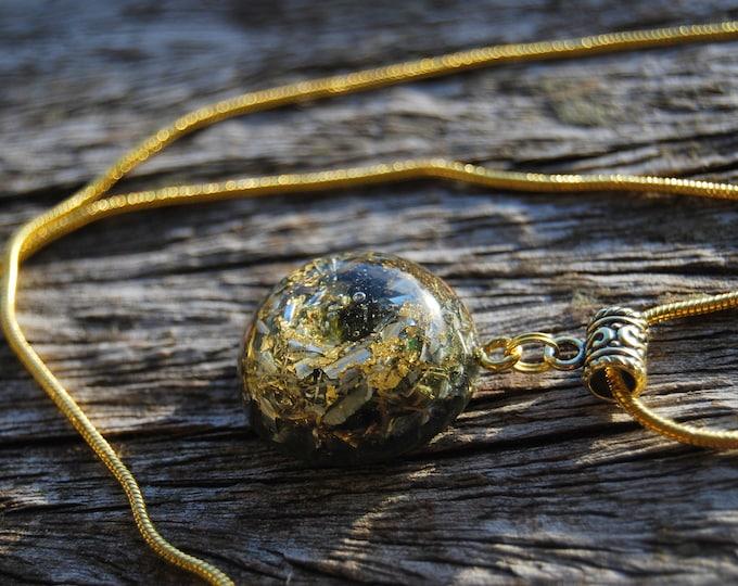 Moldavite Orgonite® Orgone Pendant Small