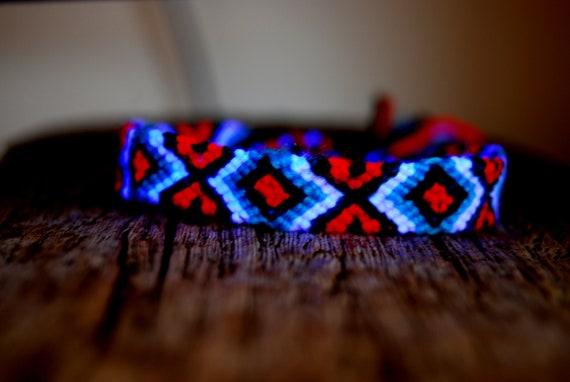 Psytrance Friendship Bracelet Handwoven UV