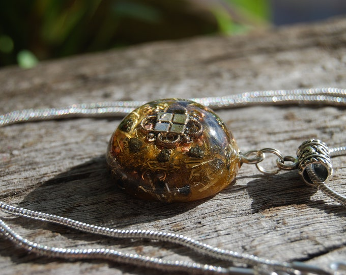 Pyrite Clusters Orgonite® Pendant Necklace