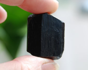 Natural Double Terminated Black Tourmaline Crystal