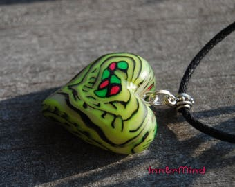 Heart Love Pendant Necklace UV  Blacklight Unisex
