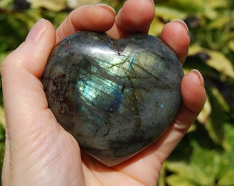 Labradorite Large Heart stone from Madagascar