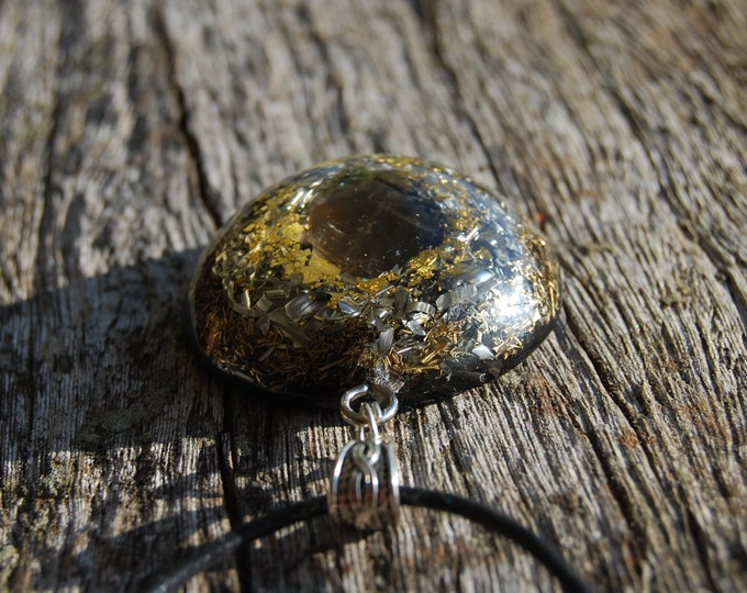 LARGE Natural Smokey Quartz Orgonite® Powerful Orgone Necklace