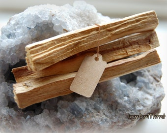 Sacred Palo Santo (Bursera Graveolens) Holy Wood  THREE Smudge sticks for clearing cleansing