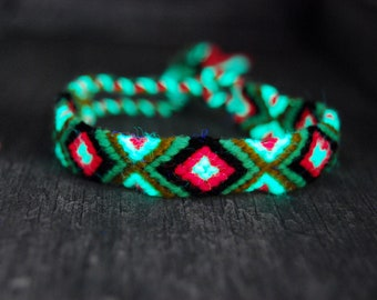 Friendship Bracelets Woven Blacklight UV Active