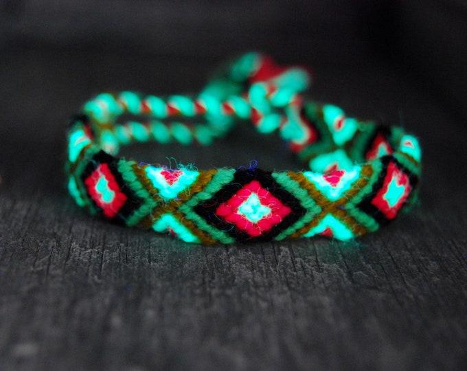 Friendship Bracelets Woven Blacklight UV Active