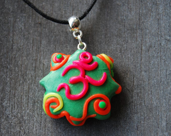 AUM UV Blacklight Necklace Pendant Clay