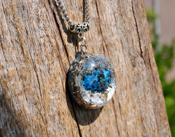 RAW SHATTUCKITE Orgonite® Pendant Necklace with 925 Silver, Unisex