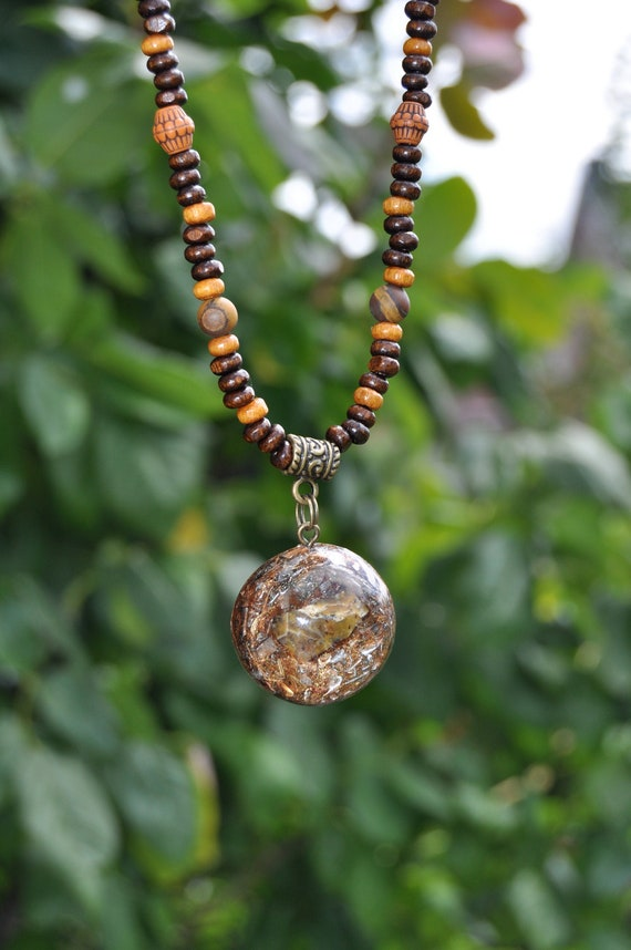 Honey Opal Orgonite® Necklace Orgone Pendant - FREE Shipping !