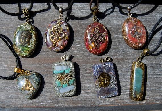 Orgonite pendant orgone pendant necklace gift gifting sale aloadofball Images