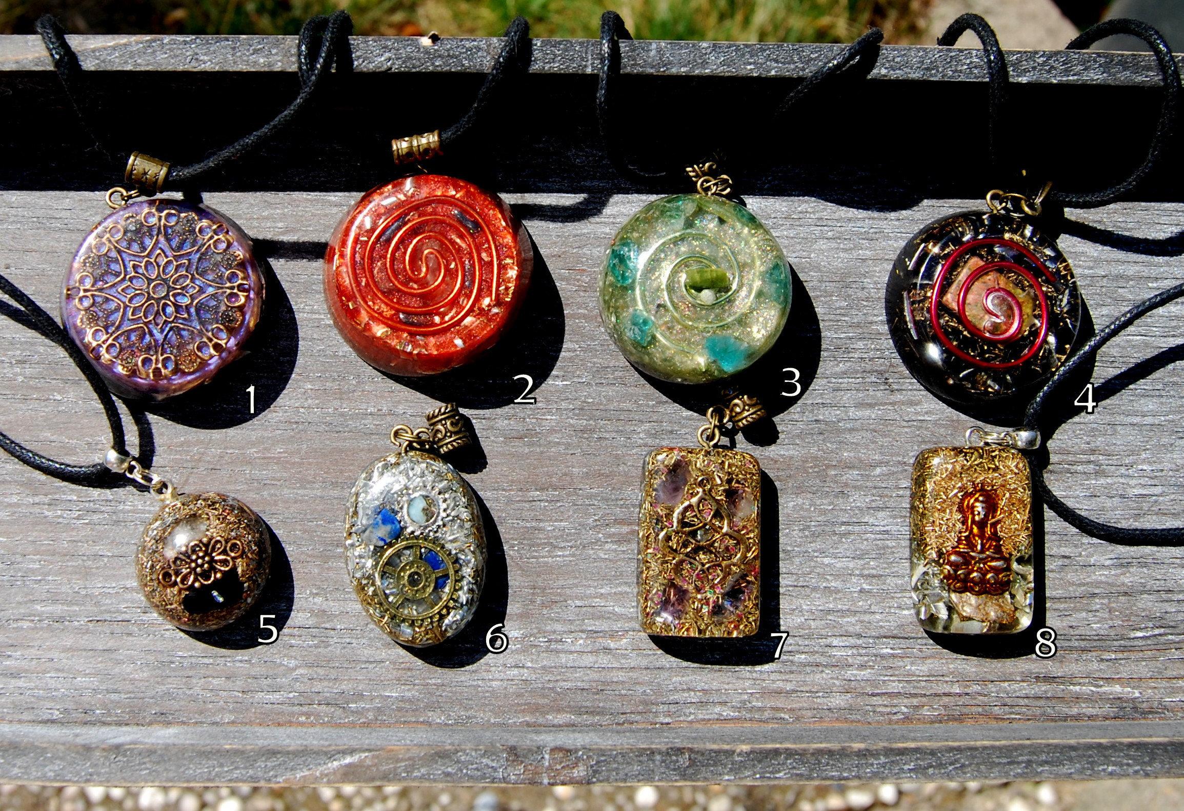 Orgonite pendant orgone pendant necklace gift gifting sale bargain aloadofball Images