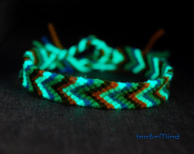 Friendship Bracelet Braided Chevron Tropical Colors