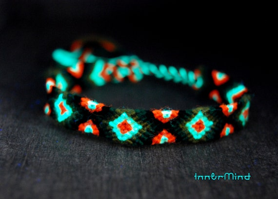 Friendship Bracelets Woven UV Blacklight Unisex Adult