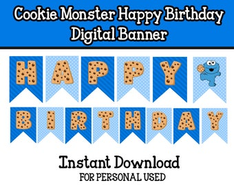 Baby Cookie Monster Digital banner