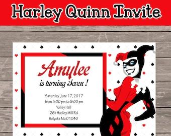 Harley Invitation Etsy