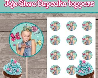 Jojo Siwa Cupcake Toppers
