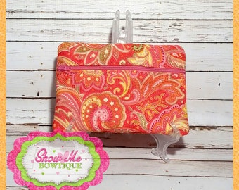 Lined 5x7 ITH Zipper Bag