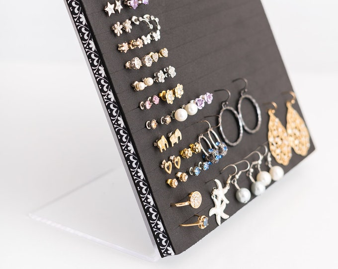 Earring Organizer - 8x10 Size Acrylic Stand - Jewelry Display