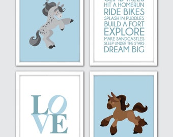 Horse nursery art horse lovers gifts horse nursery set horse nursery prints horse nursery theme equestrian baby gift nursery prints horse negle Gallery