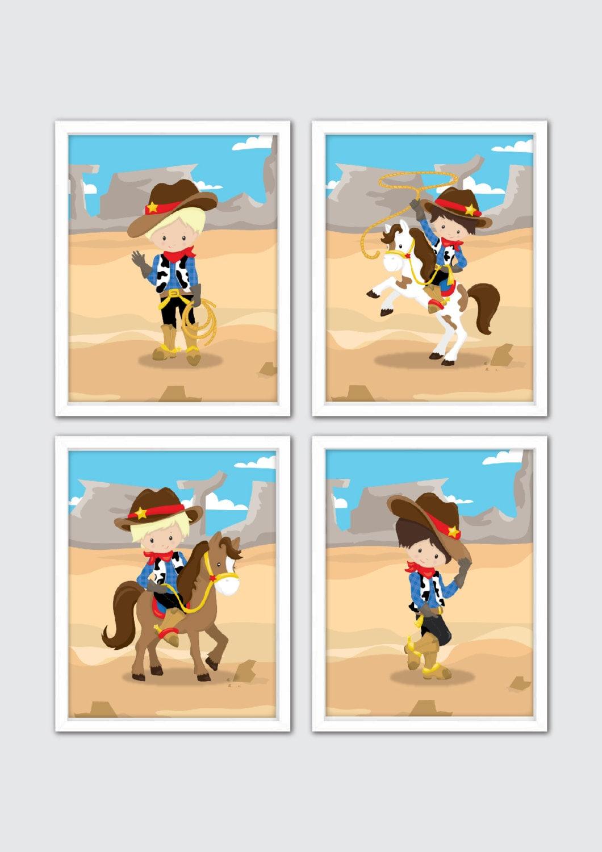 Cowboy Nursery Art Country Wild West Nursery Decor Baby Boy   Etsy