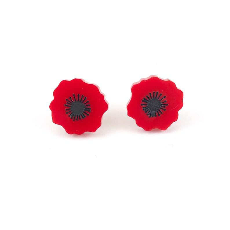 260c71f5e Poppy Flower earrings poppy earrings red poppy flower   Etsy