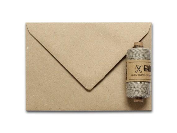 Set Kraft Paper | envelopes C6 & yarn