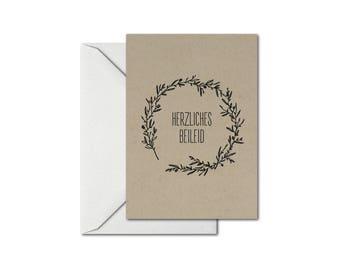Card HERZLICHES BEILEID