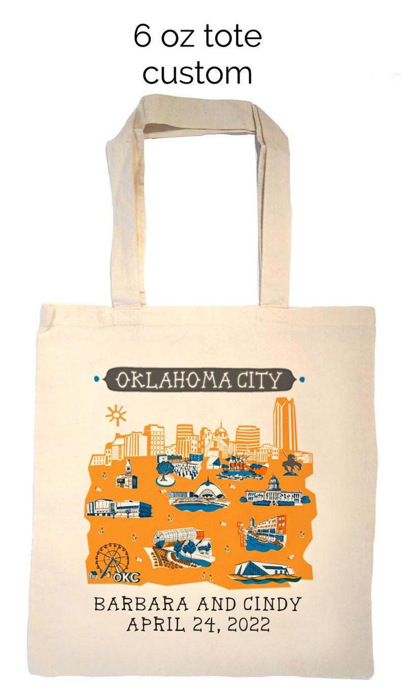 Oklahoma City Tote Bag-Wedding Welcome Tote