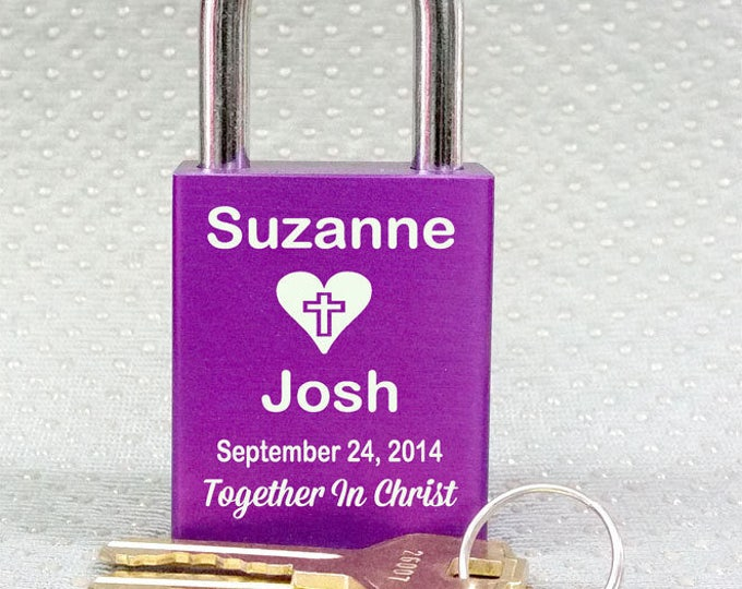 LOVE LOCK  Engraved Front and back