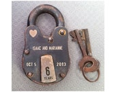 Engraving only on Brass Tab of Lock only - Lock not included